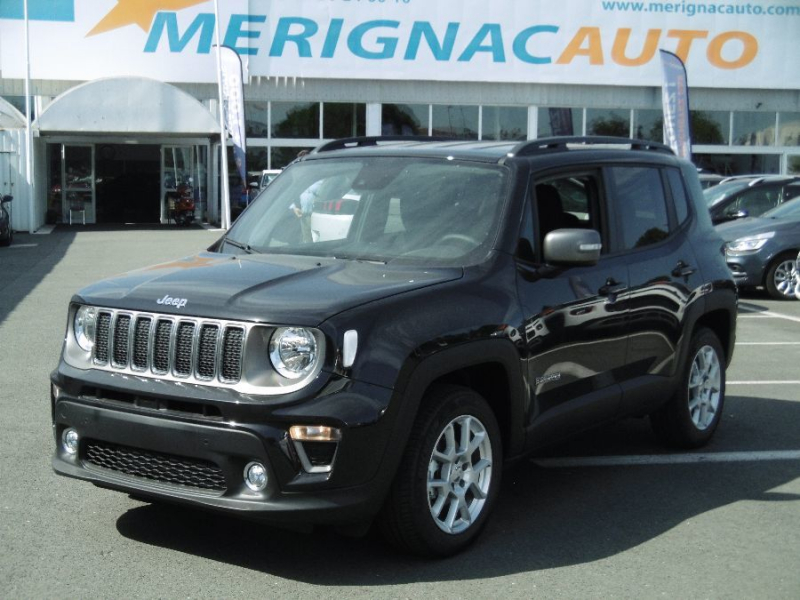 Jeep RENEGADE New 1.3 GSE T4 150 BVR6 LIMITED (5 Options) ESSENCE NOIR Neuf à vendre