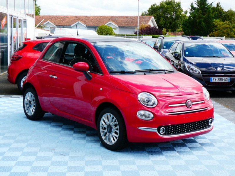 Photo 2 de l'offre de FIAT 500 1.2 69 PACK LOUNGE GPS TOIT Pano (7 Options) à 12850€ chez Mérignac auto