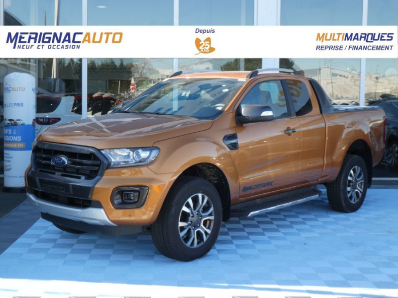 Ford RANGER SUPER CAB 2.0 TDCI 213 BVA10 4WD WILDTRAK Cover Pack Tech. 32900HT DIESEL ORANGE PRIDE MÉTAL Neuf à vendre