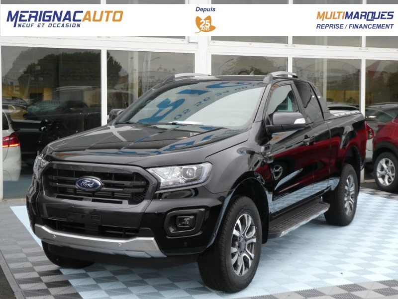 Photo 1 de l'offre de FORD RANGER SUPER CAB 2.0 TDCI 213 BVA10 4WD WILDTRAK Cover Pack Tech. à 39450€ chez Mérignac auto