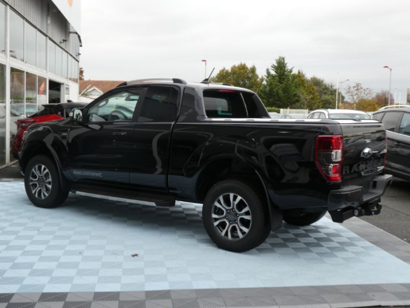 Photo 4 de l'offre de FORD RANGER SUPER CAB 2.0 TDCI 213 BVA10 4WD WILDTRAK Cover Pack Tech. à 39450€ chez Mérignac auto