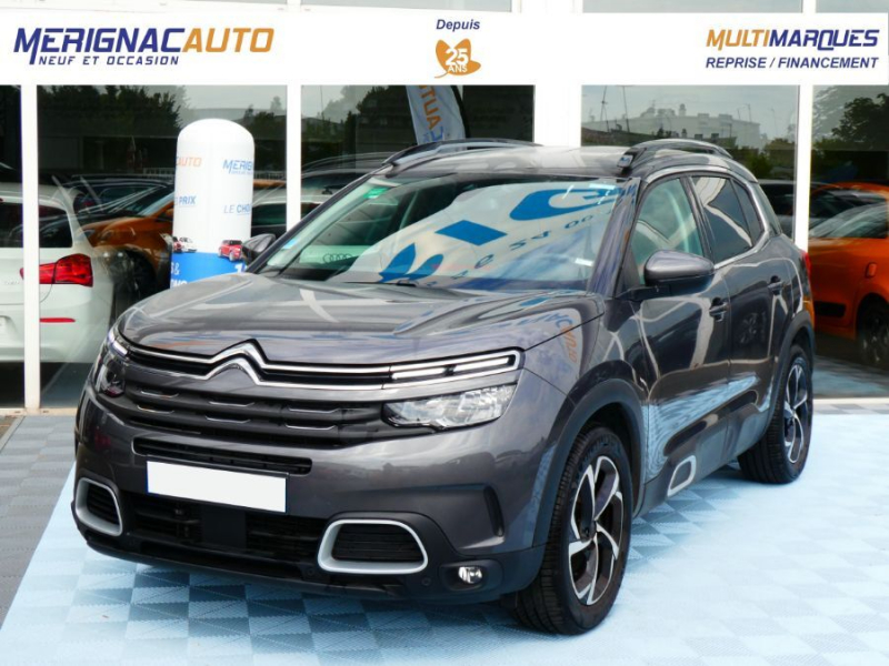Citroen C5 AIRCROSS PureTech 180 EAT8 FEEL GPS JA18 Camera 360° ESSENCE GRIS PLATINIUM Occasion à vendre