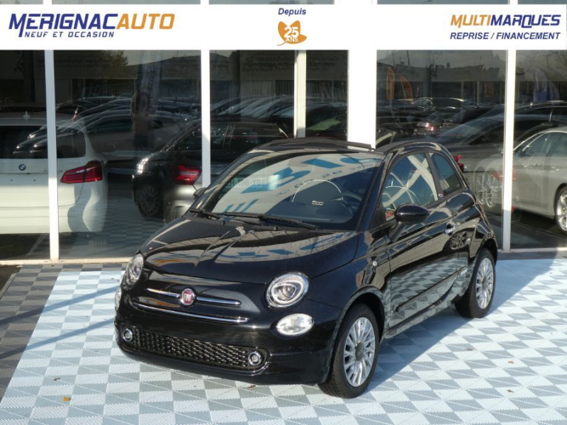 Photo 1 de l'offre de FIAT 500 C 1.2 69 Dualogic LOUNGE GPS (7 Options) Capote Rouge à 15990€ chez Mérignac auto