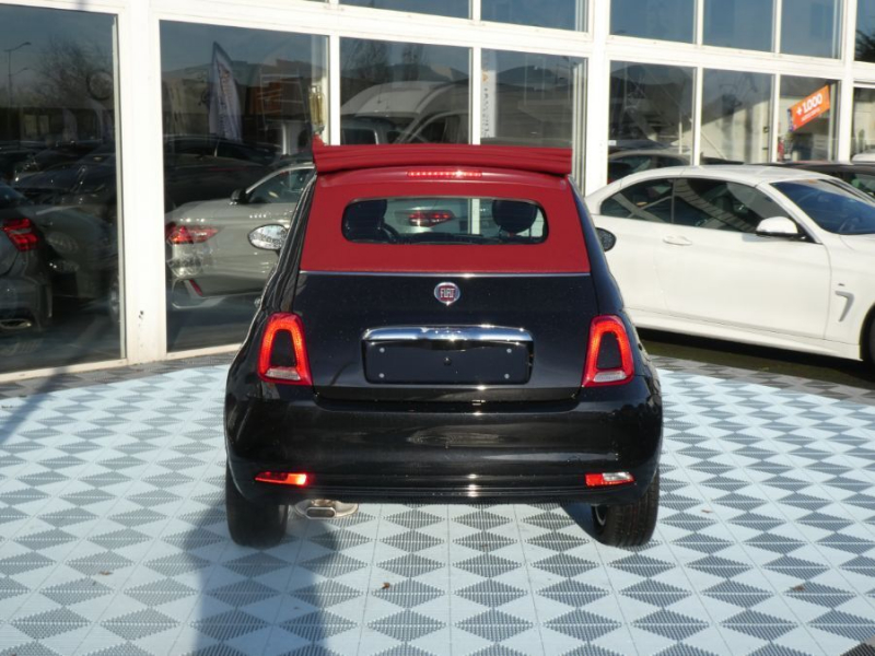 Photo 5 de l'offre de FIAT 500 C 1.2 69 Dualogic LOUNGE GPS (7 Options) Capote Rouge à 15990€ chez Mérignac auto
