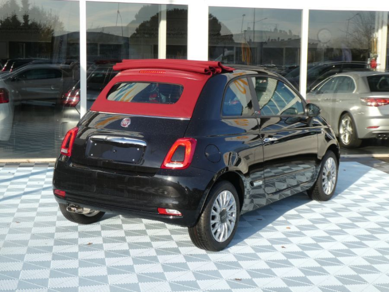 Photo 6 de l'offre de FIAT 500 C 1.2 69 Dualogic LOUNGE GPS (7 Options) Capote Rouge à 15990€ chez Mérignac auto