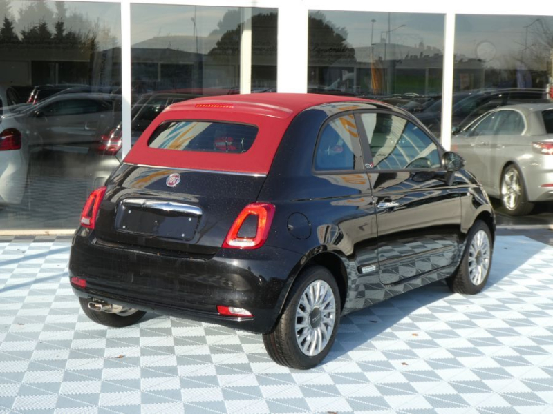 Photo 7 de l'offre de FIAT 500 C 1.2 69 Dualogic LOUNGE GPS (7 Options) Capote Rouge à 15990€ chez Mérignac auto